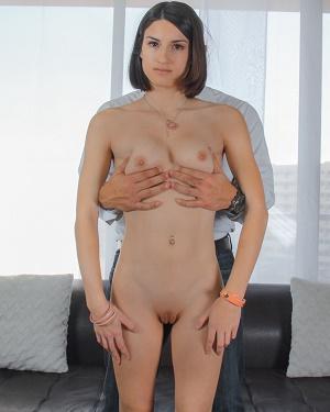 Asian girl deepthroats