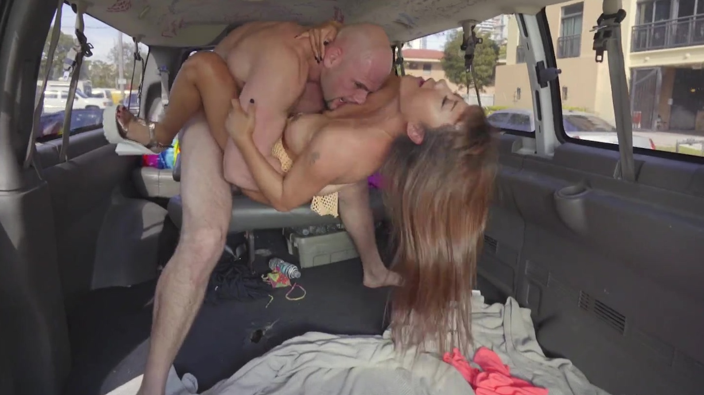 the Fucking back seat in