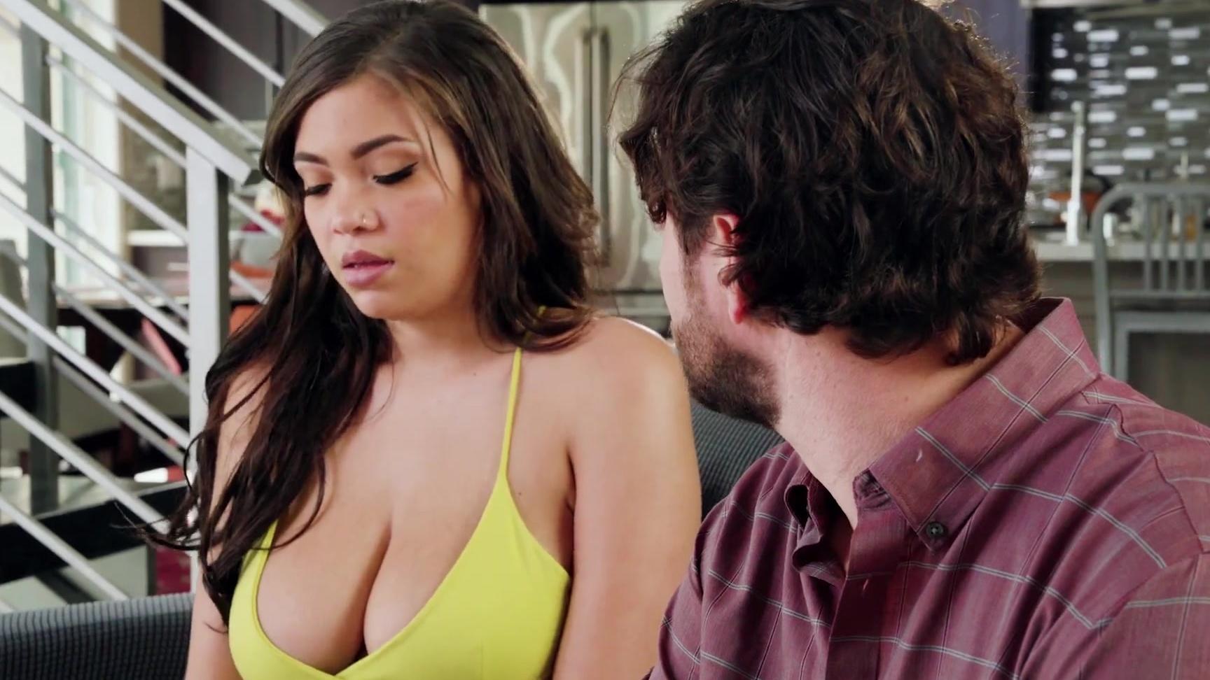 natural huge tits latina fucked & cum showeredmom's ex bf