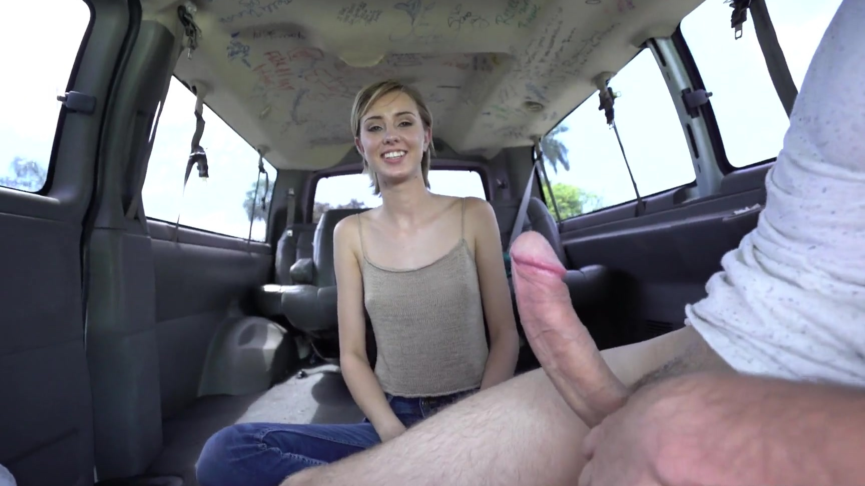 haley reed sucking & riding a big meat in the backseat of a cab
