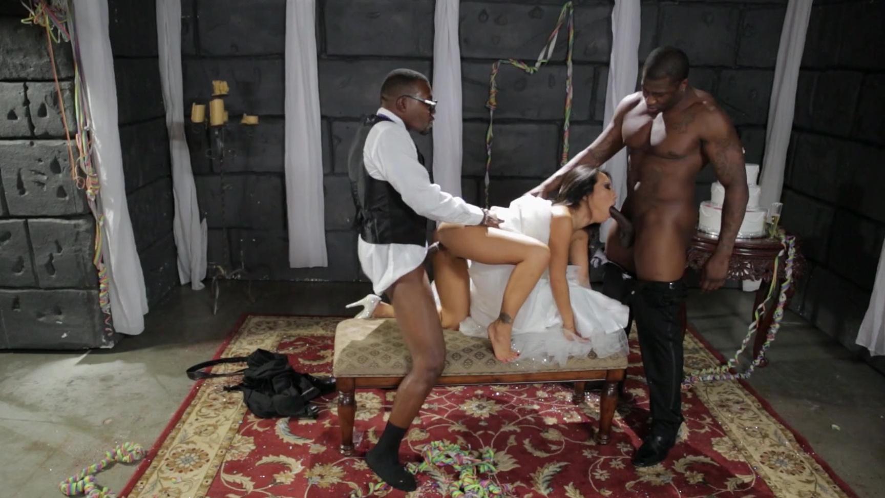 Asa Akira Forced Porn exotic beauty asa akira takes two black cocks at the same
