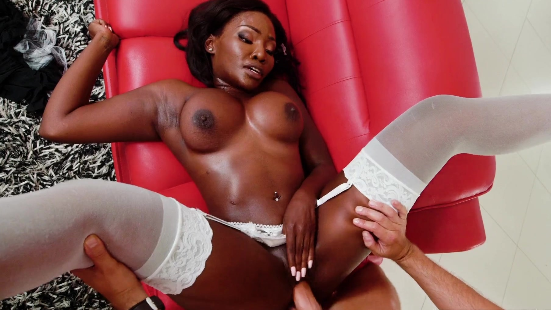 Ebony Cutie Sucking Dick