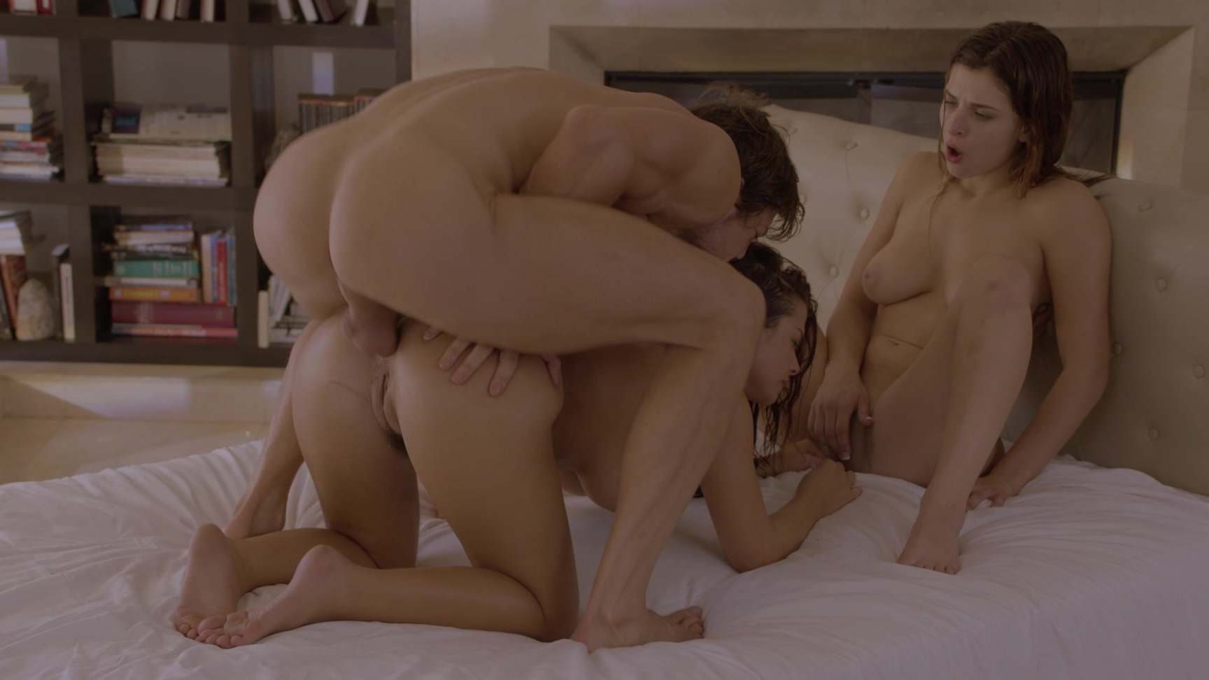 Mom Anddaughter Threesome Anal