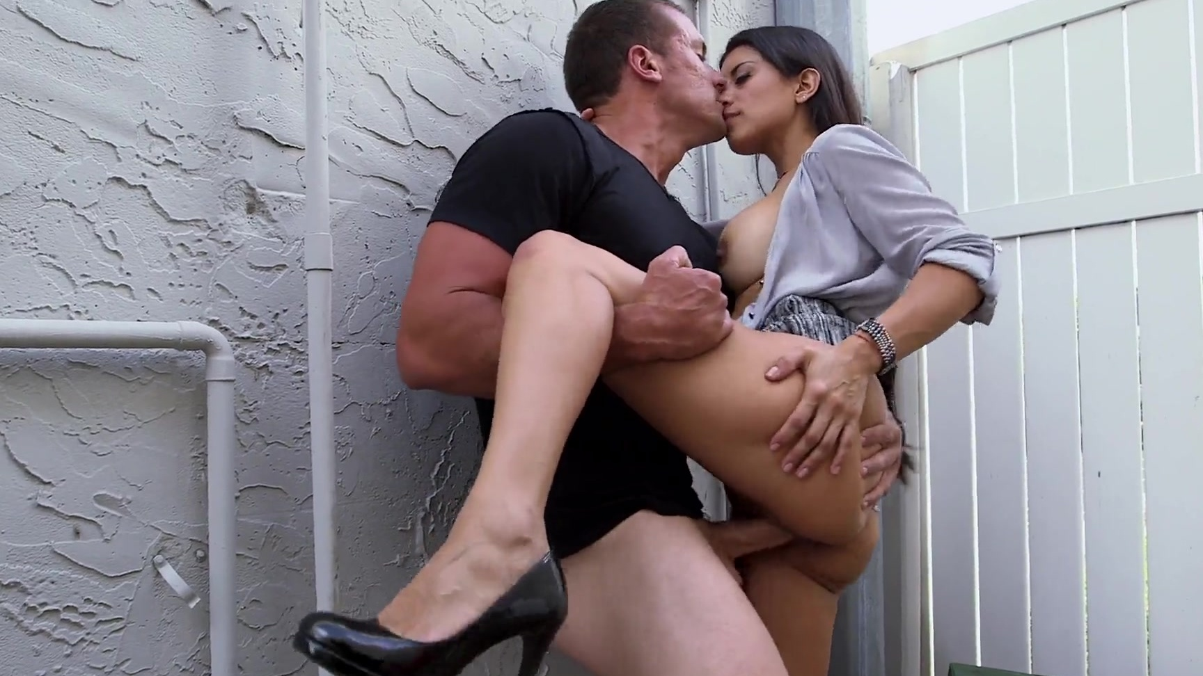 Latina fucked in public