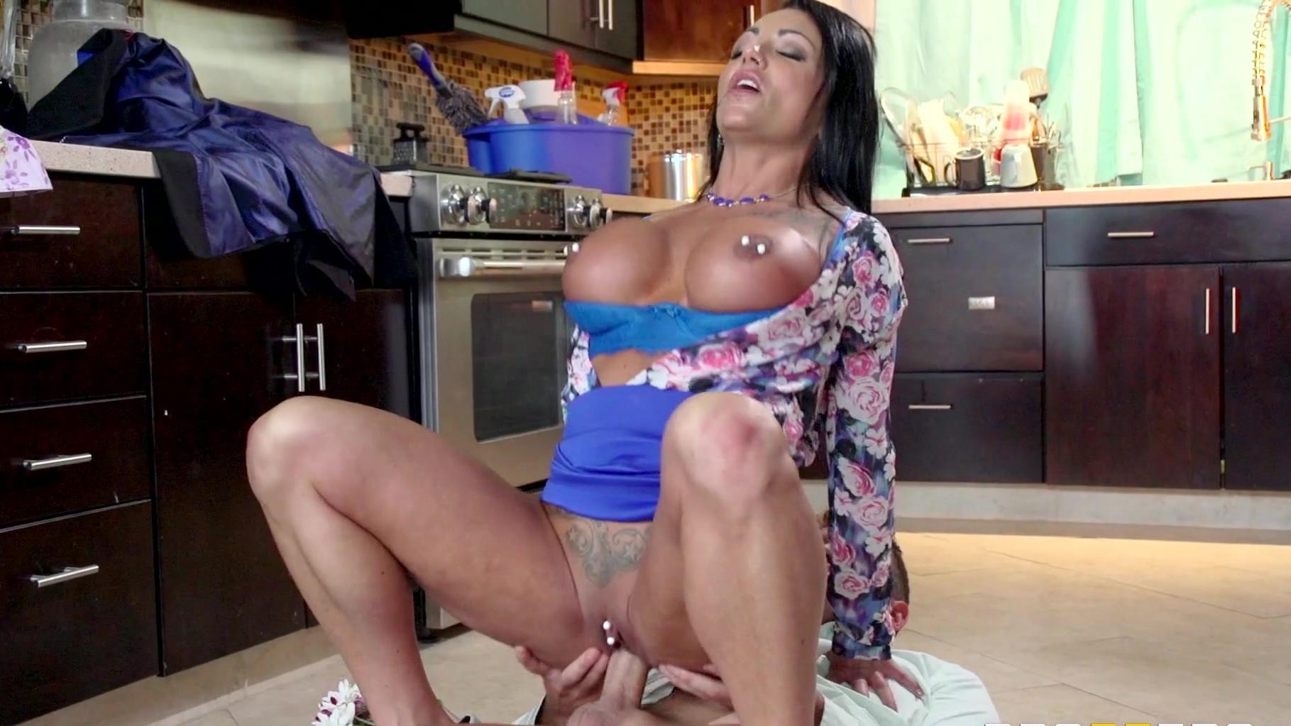 Ashton Blake Mom Go Black Porn ashton blake gives a blowjob & titfuck then rides her