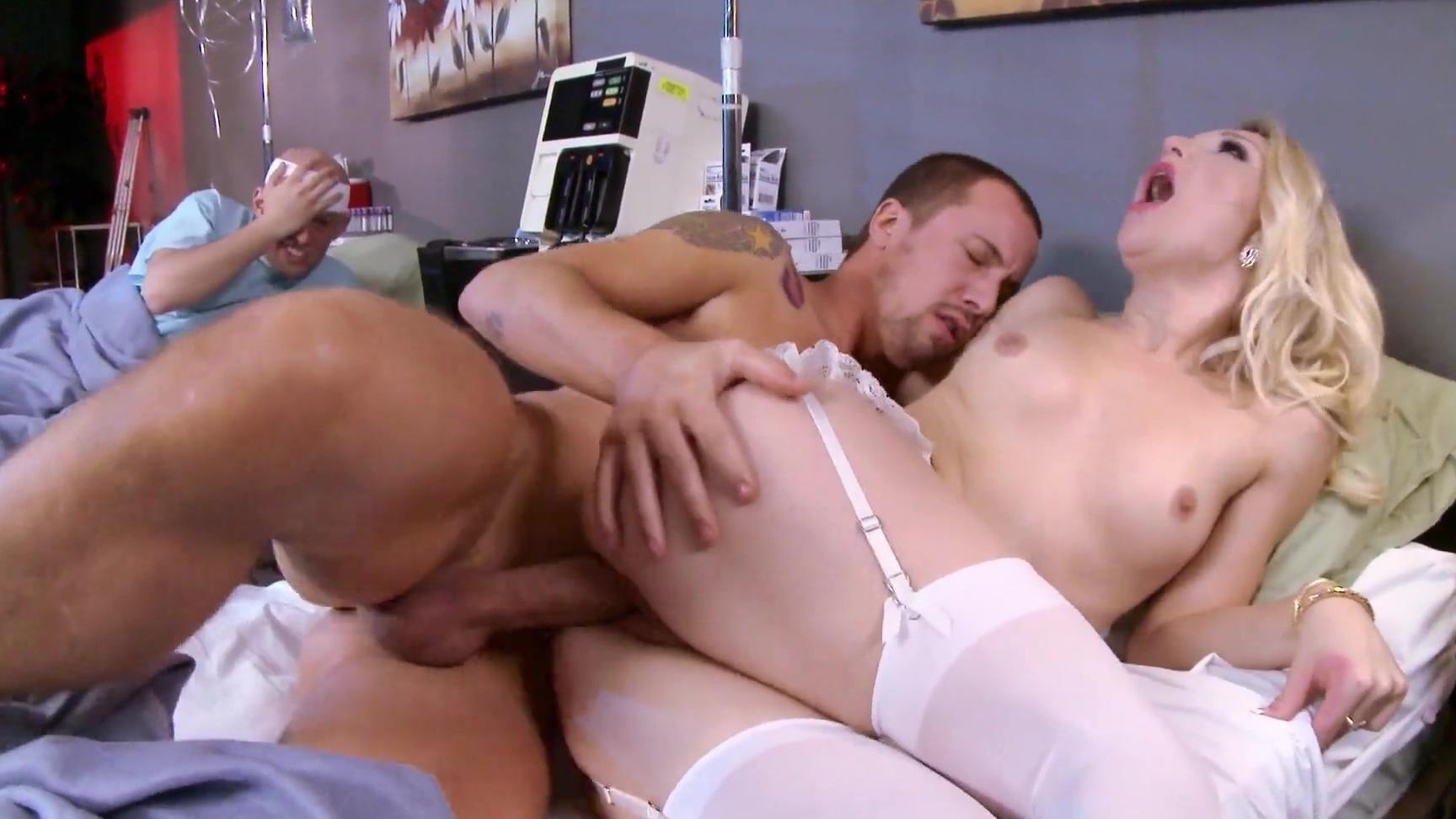 Playgirl opens up her legs for men penetration