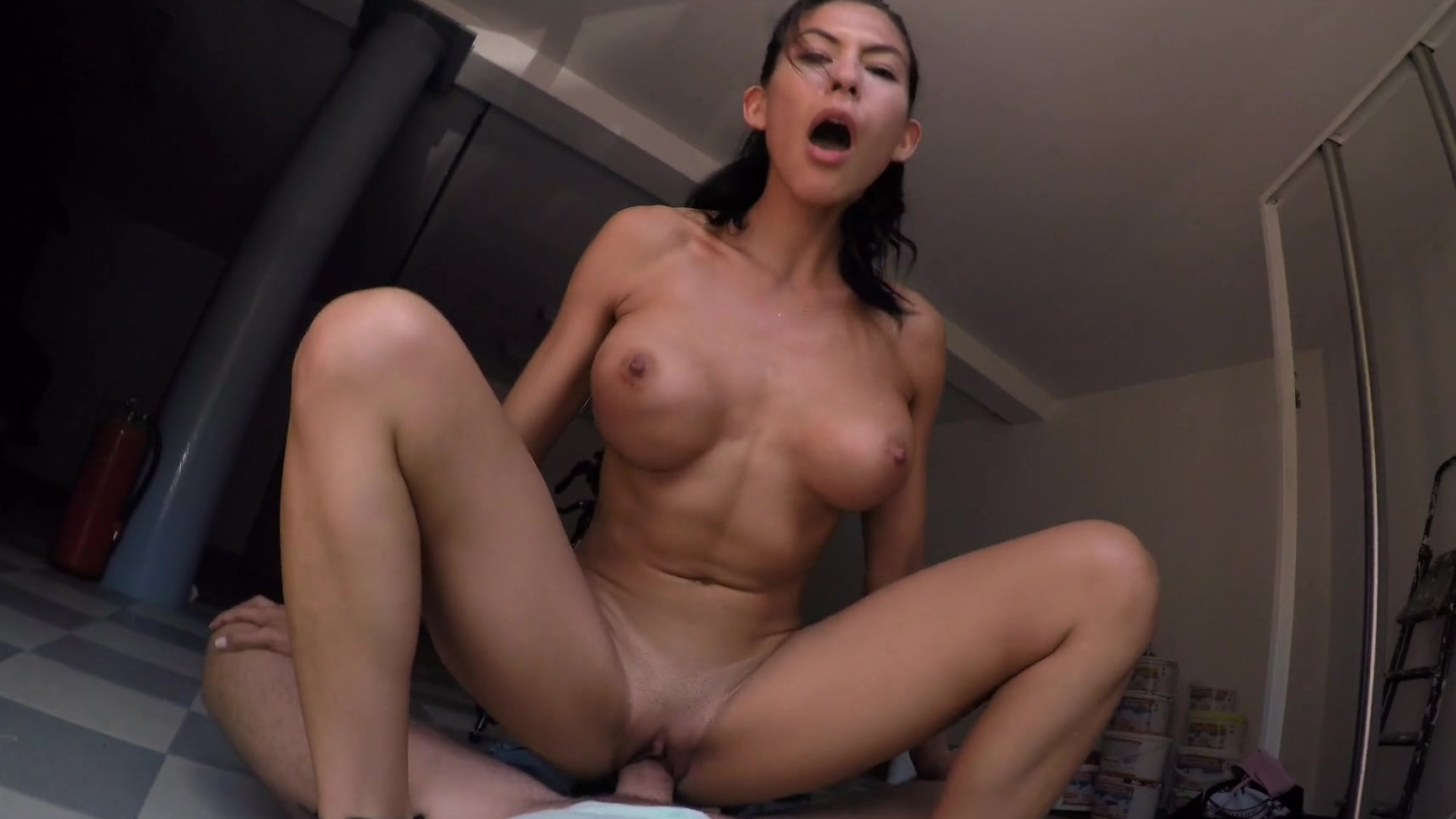 Milf Fucks Sons Friend Kitchen