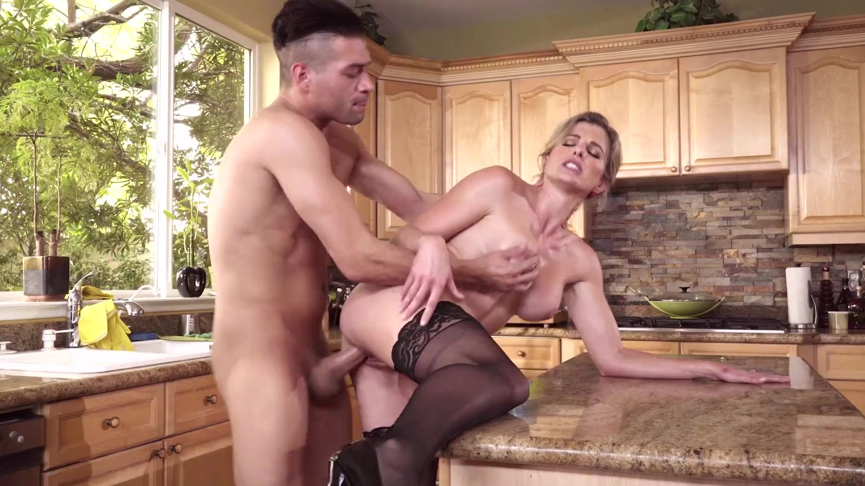 milf cory chase makes her stepson eat her out & fuck her in the